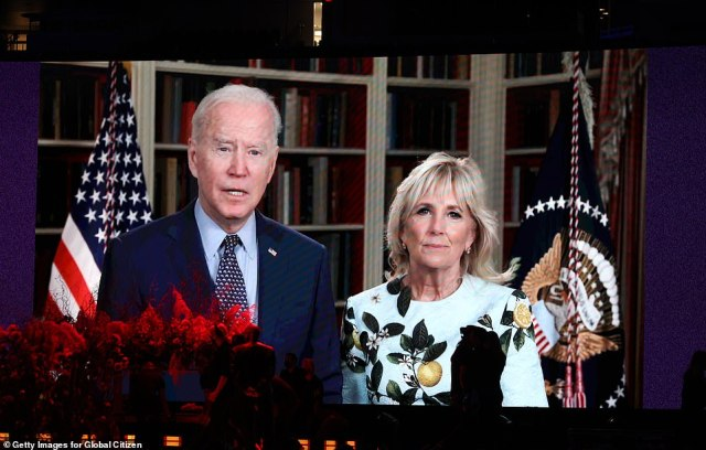 During the taping on Sunday night the crowd watched a message from President Joe Biden and First Lady Jill Biden