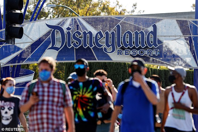 Disneyland has reopened to a 25% capacity - as guests return to the happiest place on earth for the first time in more than a year
