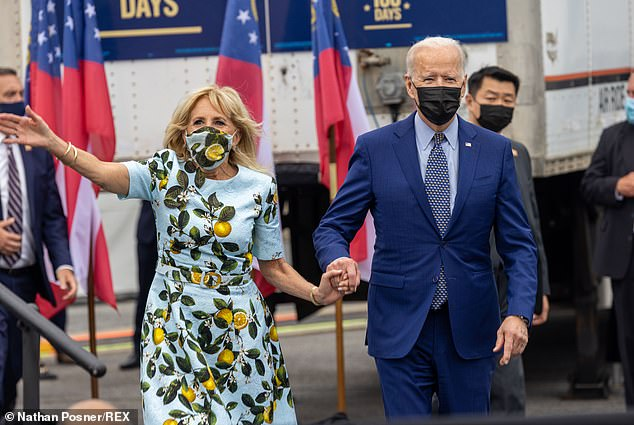Vaccinated Joe Biden still wears mask outside 'out of habit' despite CDC saying he doesn't need to, Swahili Post