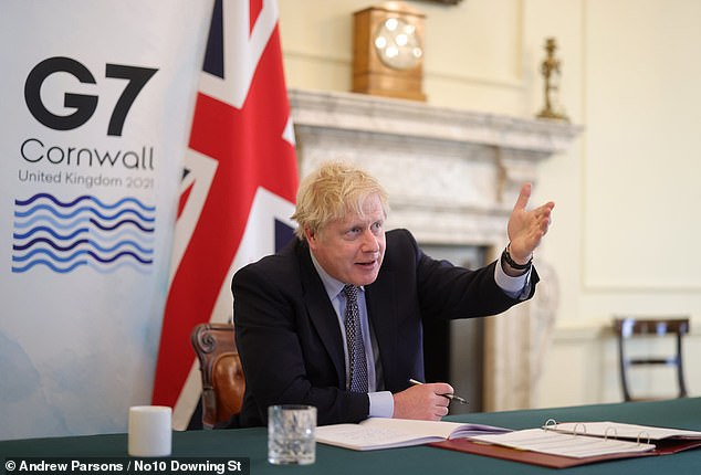 Ministers are reportedly set to challenge the Prime Minister (pictured) today over the number of countries placed on the travel 'green list'