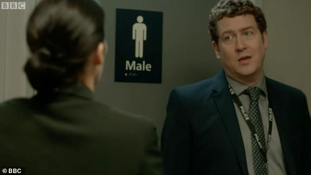 Buckells, who was revealed to be the elusive 'H' tonight, speaking with detective Kate Fleming in series four of the drama