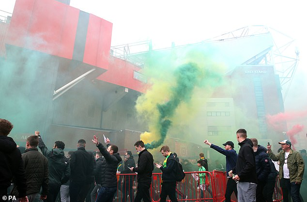 United fans protested against the Glazers, resulting in the Liverpool clash being postponed