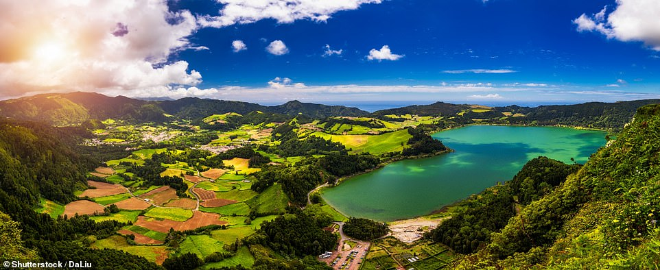 The stunning Lagoa das Furnas (Lake Fumas) on Sao Miguel, which is the largest island in the Azores