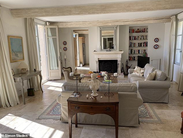 Retired British designer Mr Sladen, a widower, has spent a number of years trying to get novelist Ms Phillips and her partner out of his property (pictured) in the south of France