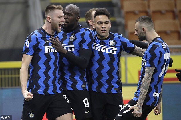 Milan Skriniar (left) has been a key figure at the back for a strong Inter defense this season