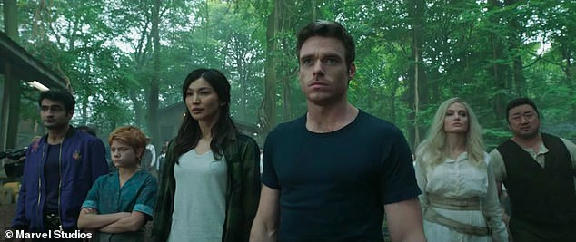 The cast; Also in the film are Gemma Chan, Richard Madden and Salma Haeyk