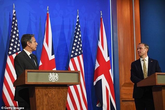 Dominic Raab today lavished praise on President Joe Biden while US Secretary of State Antony Blinken insisted Washington has 'no closer partner' than the UK as they launched a mutual charm offensive to repair the Special Relationship