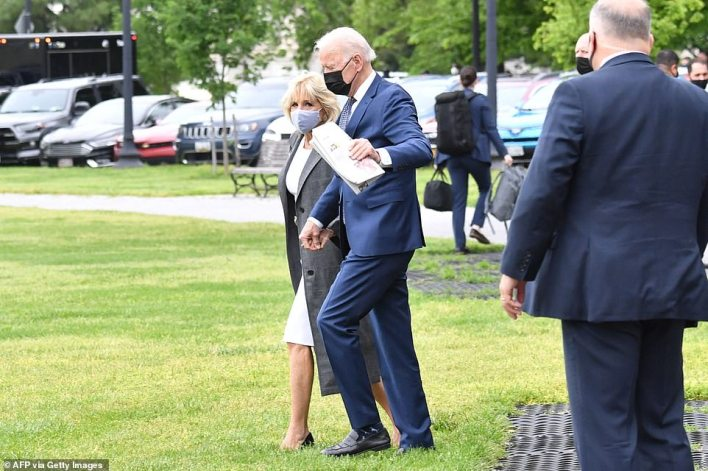 President Joe Biden and first lady Jill Biden headed to Yorktown, Virginia, on Monday as his administration starts a blitzkrieg to sell its $4.1 trillion in federal spending package