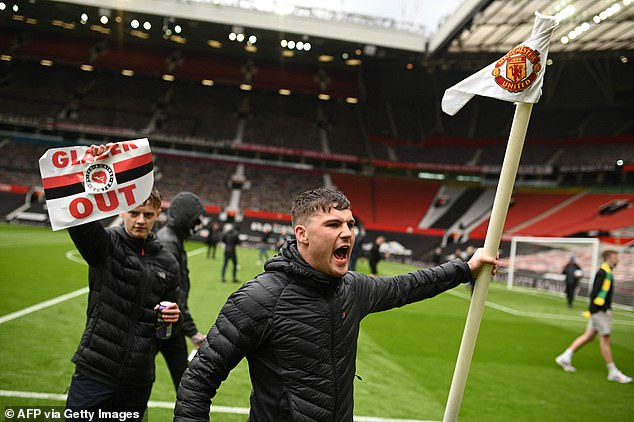 Manchester United fans stormed Old Trafford on Saturday in protest of the Glazer ownership