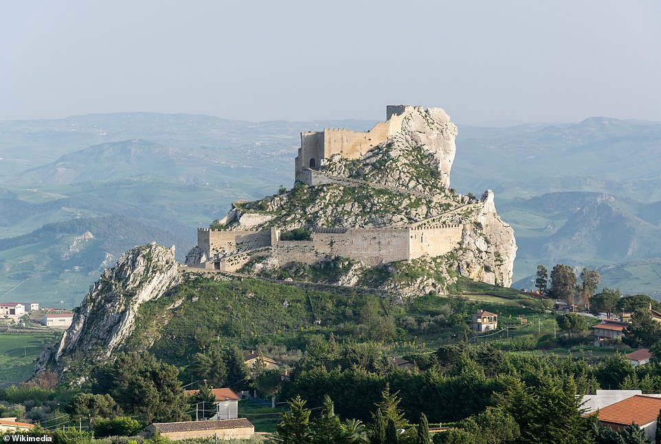 Things to see! A view ofMussomeli's castle, which dates back to1364