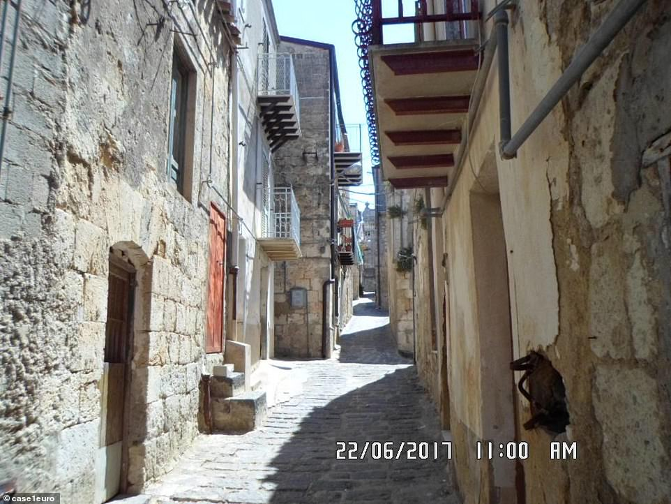 Growing old in: Danielsplans to retire in the town, which sits two hours southeast of Palermo
