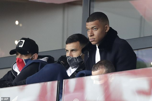 Paris Saint-Germain star forward Kylian Mbappe (shown right) has been out injured recently