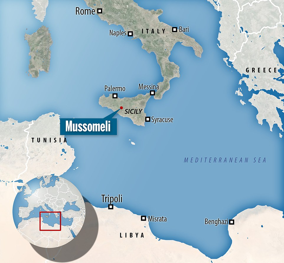 Down south: Mussomeli is located in the southern part of Italy, and is around 40 minutes from the nearest beach