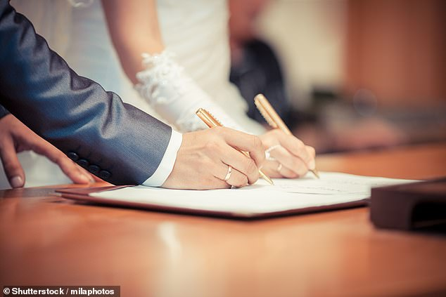 Mothers of the bride and groom can now be named on marriage certificates. (Stock image)