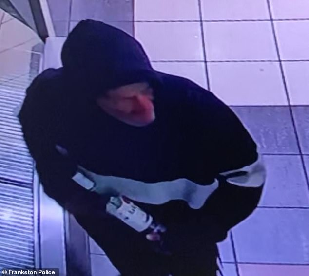 The man is described as being white and was last seen wearing a white striped hooded jumper. Picture above is a man police belive can assist in their enquiries