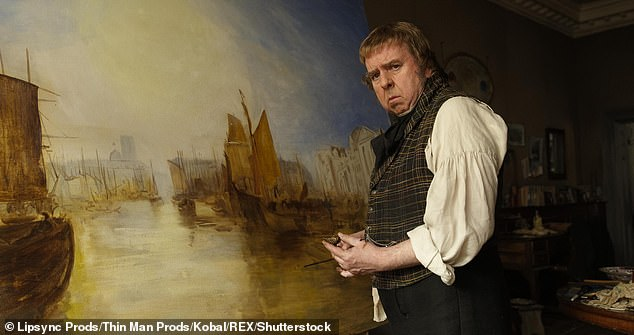 Where it all started:The screen star, 64, stunned fans when he revealed he spent two years learning to paint like artist J.M.W. Turner for a 2014 biopic
