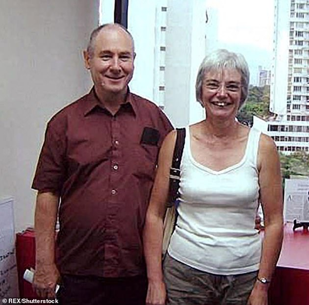 Real life: John and Anne tried to convinced the world that John had gone missing whilst canoeing but were rumbled by a snap of them in a Panama estate agent in July 2006 (pictured)