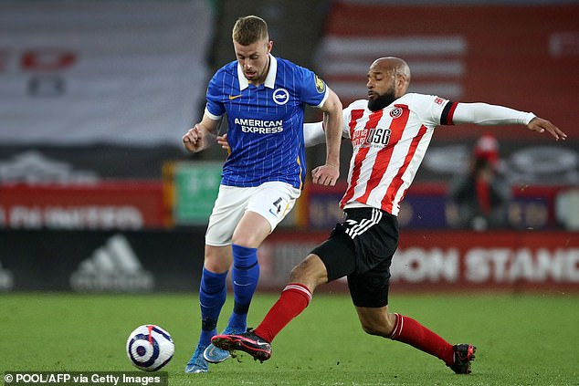 Brighton's Adam Webster (left) has been full of praise for the work Potter has done at the club