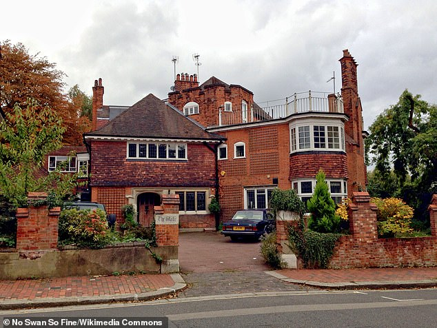 Tim Burton has won a planning row to cut or fell 15 trees in the garden of his £11million Edwardian mansion (pictured)