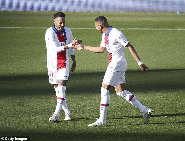 Alongside Neymar (left), Mbappe has the ability to turn the tie around and take PSG through