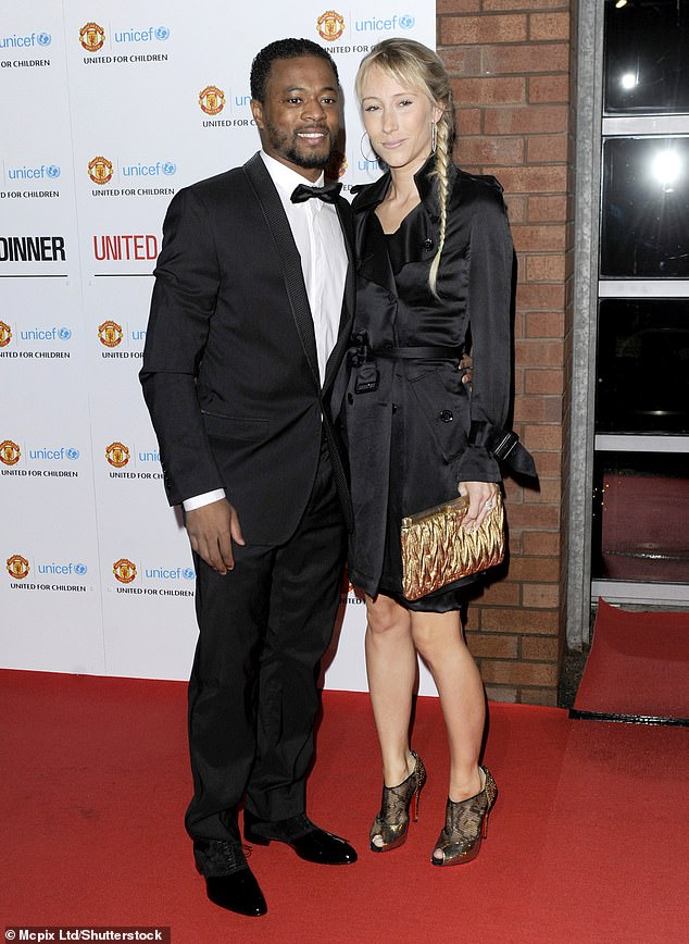 Estranged: The former defender was previously in a relationship with wife Sandra, 39, for 25 years (pictured in 2012)