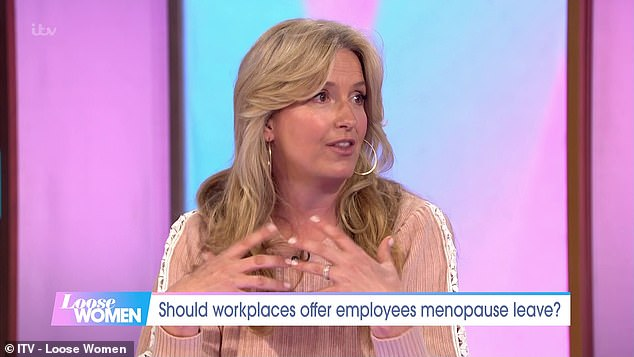 Penny, 50, said it was 'important to highlight' issues women face during menopause, including mental health issues
