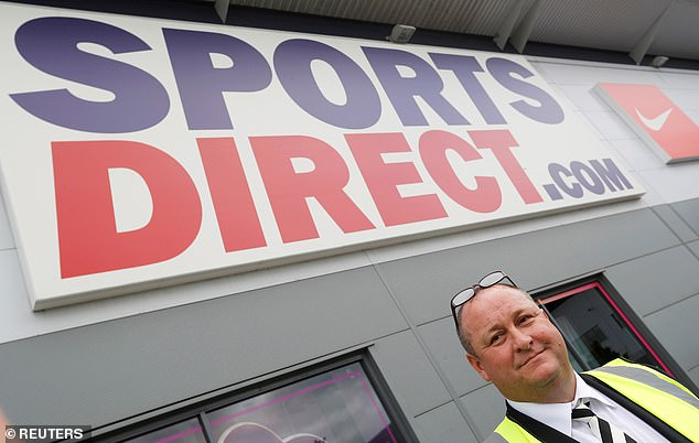 Sports Direct is run by British business tycoon Mike Ashley (pictured). Which? survey respondents were disappointed with the discount sports store's guarantees to its return policy and in-store Covid-19 precautions