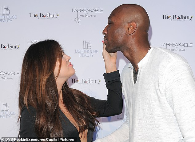 Former flame: In 2009 the former NBA star married Khloe Kardashian who persuaded him to reunite and reconcile with his father Joe on their reality show Khloe & Lamar, as the former couple are seen together in April 2011