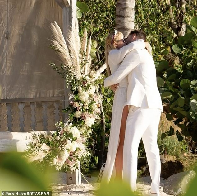 Nuptials: Paris got engaged to Carter Reum after he popped the question while celebrating her 40th birthday on a private island in February