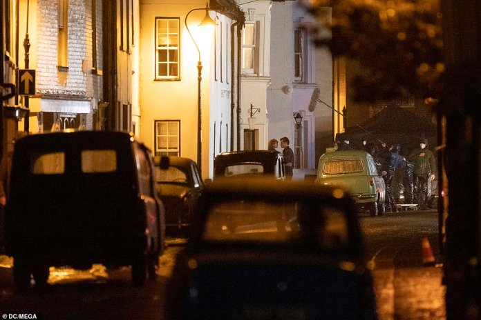 Security unit:It comes after film bosses reportedly shelled out on a 'massive security unit' in anticipation of the filming on Brighton's seafront