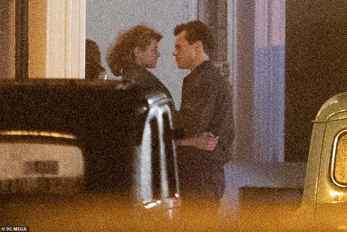 Close: Harry has been good friends with The Crown star Emma - who played Diana in the series - for many years