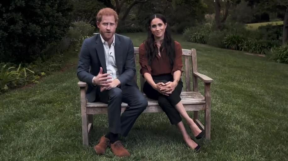 Is this the bench? In a video released in September last year, the couple were filmed sitting side-by-side on a wooden bench, opening up the possibility Meghan might be celebrating her family's current home in the new book