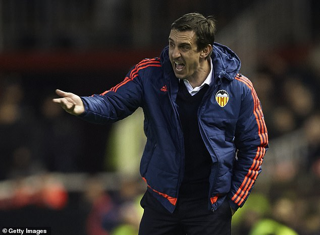 Gary Neville had a brief four-month spell as manager of Valencia during the 2015-16 season