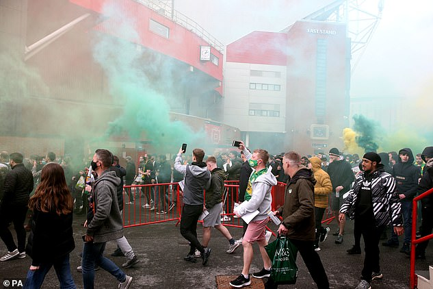 Manchester United fans stormed Old Trafford on Sunday in protest of the Glazer ownership