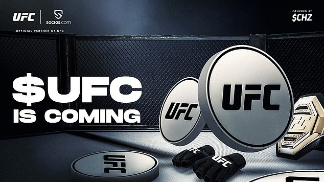 UFC has announced a partnership with blockchain provider Socios due for launch in June