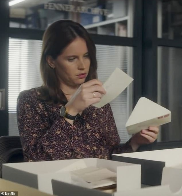 Fast forward: This is when the time-hopping element as journalist Ellie (played by Felicity Jones) reveals she has read Jennifer and Anthony's letters to each other