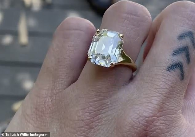 Glitz: HANDS STILL SHAKIN '- MOMS SPAGHETTI - I'm FIANCÉNCHED', exclaimed Tallulah in the caption of the ring video