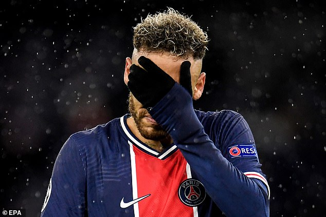 It was another tough evening for Neymar, who was kept at bay throughout the two legs