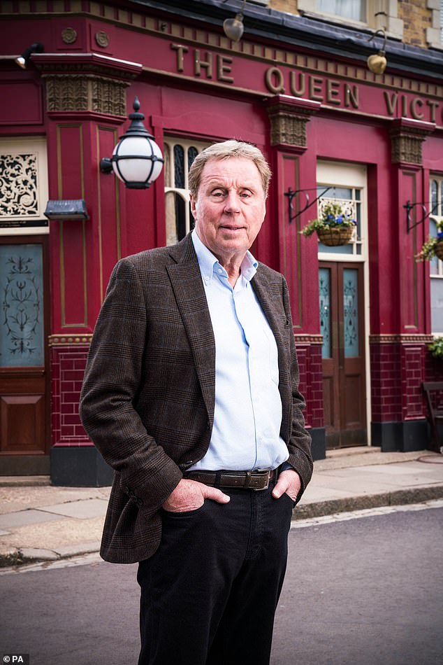On set: Harry Redknapp seen in the first photos on the set of EastEnders as he joins for a cameo where he appears in scenes with Danny Dyer