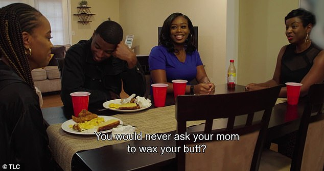 No boundaries: Later on in the trailer, Karla asks her son Rasheed's girlfriend if she would ever ask her mom to wax her butt