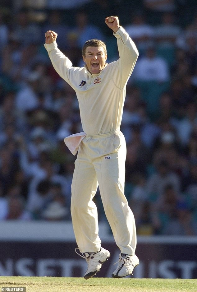 Stuart MacGill appeals unsuccessfully for a wicket at Sydney Cricket Ground in January 2001