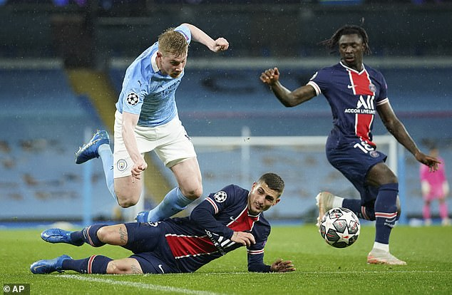 Midfielder Marco Verratti was another PSG player who lost his discipline during the defeat