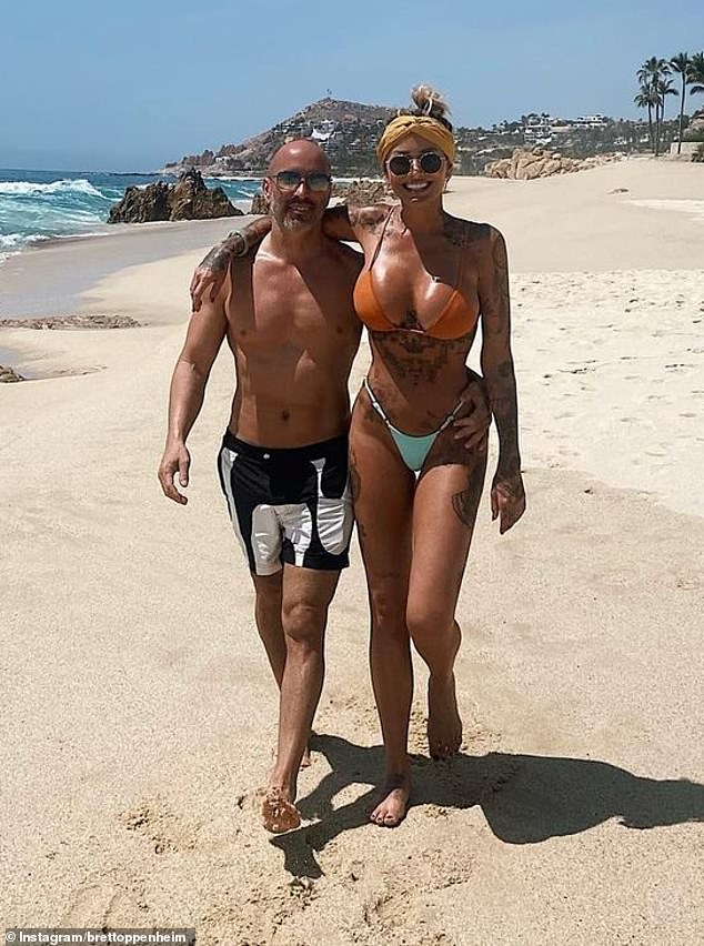 Love island: Tina confirmed her relationship with Brett last month when they went Instagram official on holiday at an undisclosed location