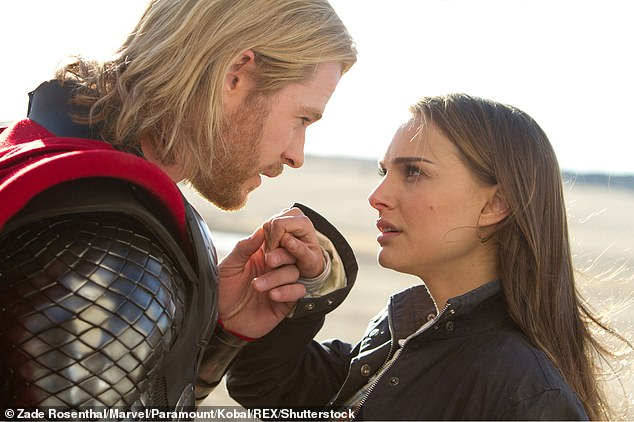 Back in character: Natalie repeats her role as astrophysicist Jane Foster in Thor: Love and Thunder, and her character will gain powers similar to Thor