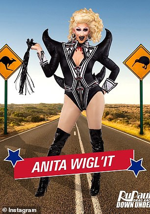 In demand: Anita Wigl'itis the owner and resident queen of Auckland's famous Caluzzi Cabaret, the host of the TVNZ show House of Drag, as well as the monthly comedy show Drag Wars