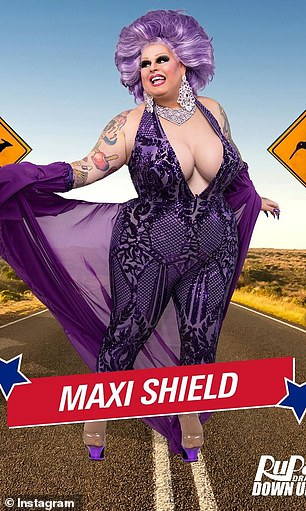 Acclaimed: Maxi Shield won 'Entertainer of the Year' at the Drag Industry Variety Awards in 2015, and was named Madonna's national hostess for her Australian Rebel Heart Tour