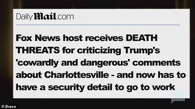 Trump critic: A DailyMail.com headline was shown about ex Fox News host Eboni receiving death threats for criticizing former President Trump
