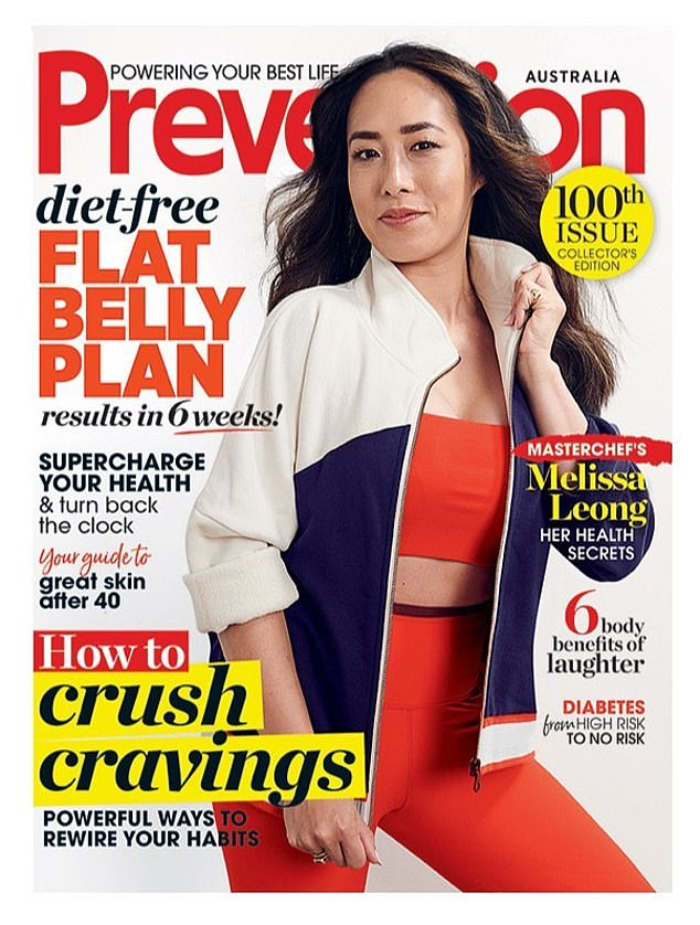 Chic and sporty! MasterChef Australia judge Melissa Leong, 39, looked effortlessly stylish as she posed in vibrant activewear on the cover Prevention magazine's 100th issue this month