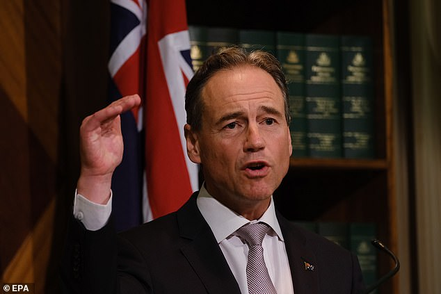 Federal Health Minister Greg Hunt (pictured) praised the Victorian government for taking 'swift action' to stand down Bush