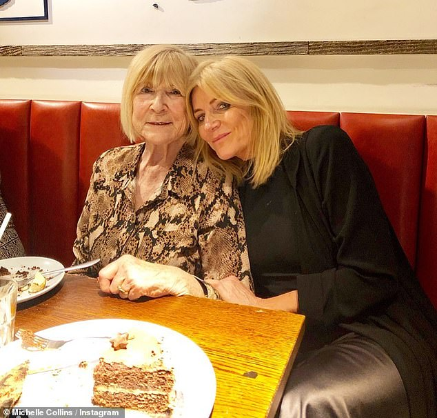 Heartbreaking:Michelle Collins has revealed her mother Mary has passed away following a two-year battle with cancer